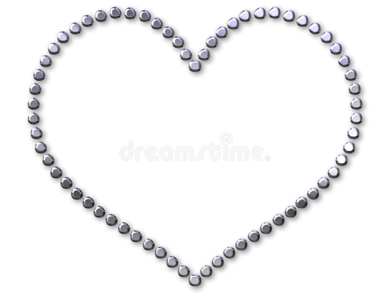 Download Silver Heart Made With Dots Stock Illustration - Image: 186320