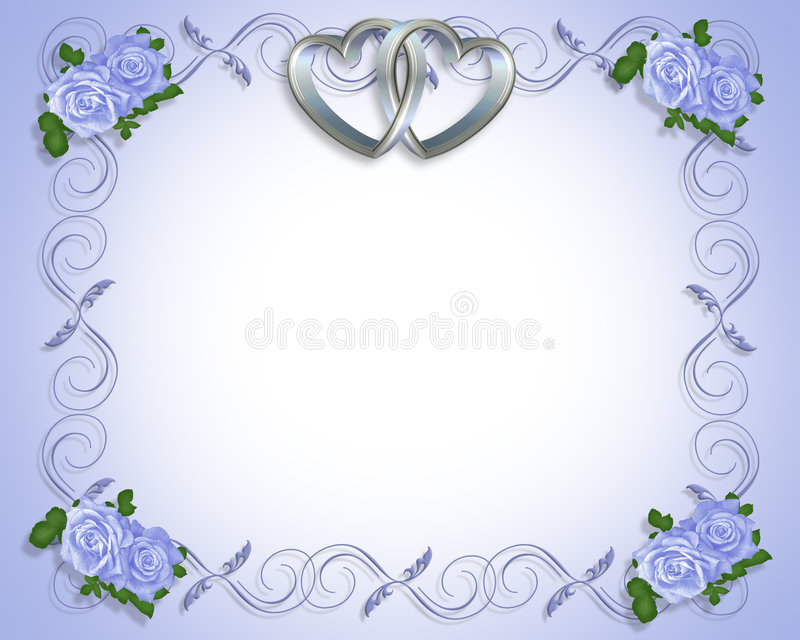 Silver Hearts Wedding Invitation vector illustration