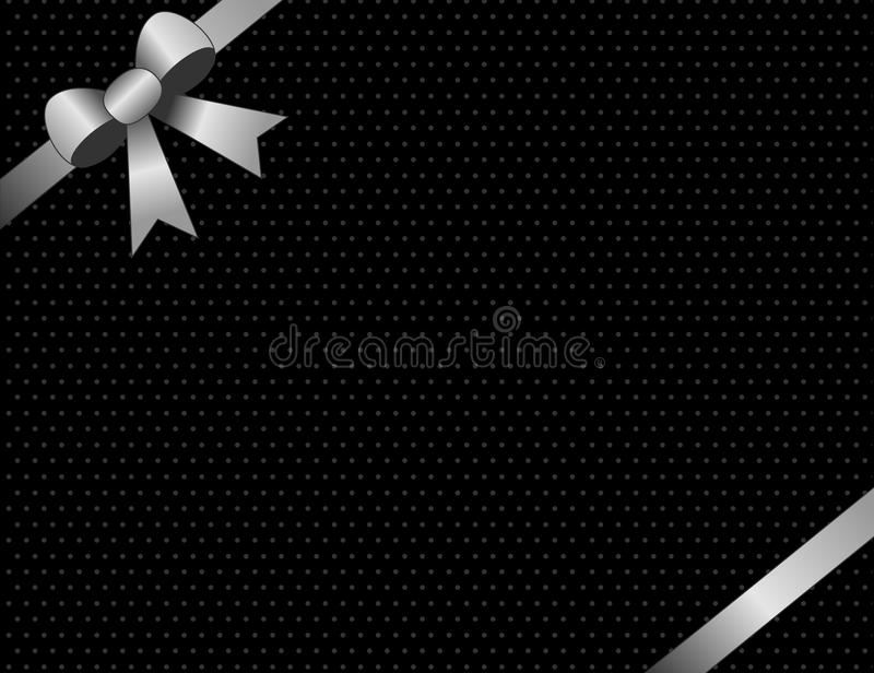 Silver Invitation / Background Stock Photography