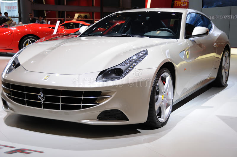 Silver Italy Ferrari ff royalty free stock photo