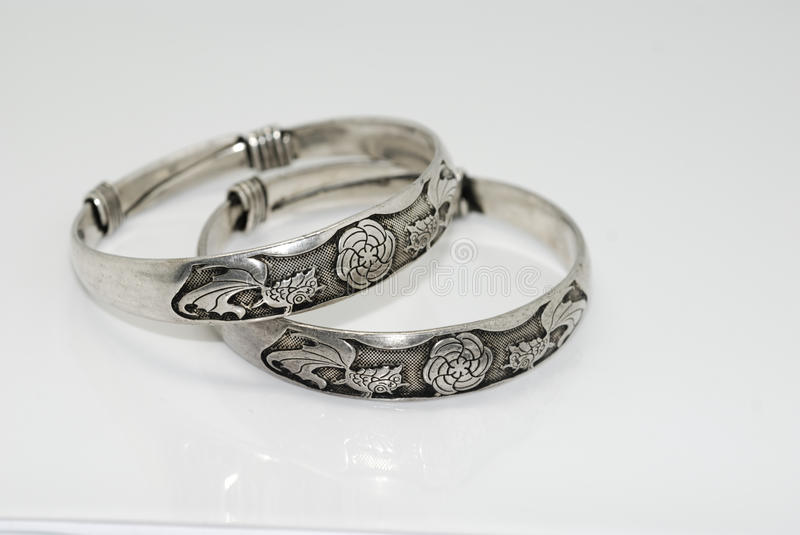 Silver Jewelry stock image