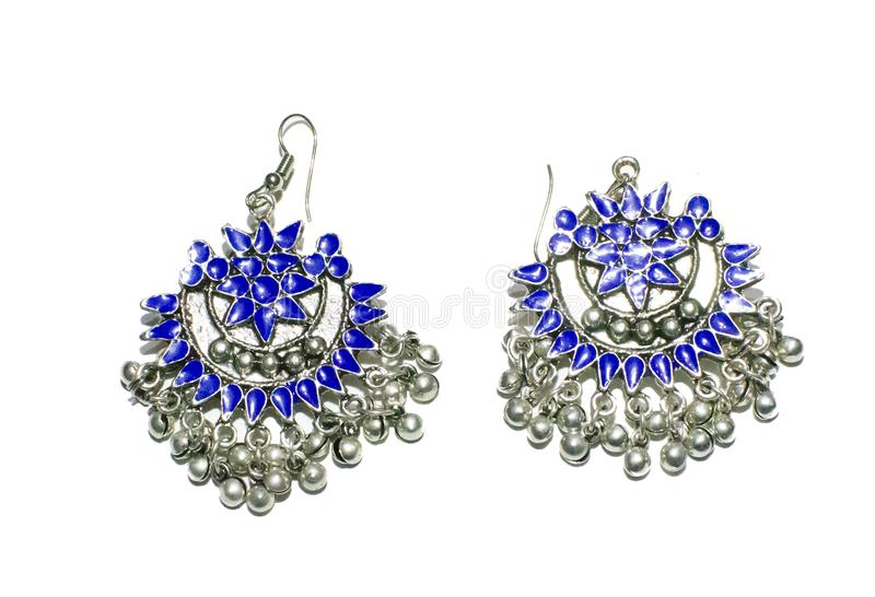 Silver Jewelry Traditional Indian Design royalty free stock photos