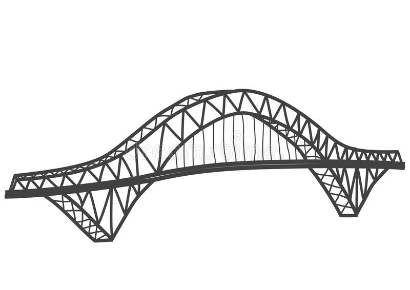 Silver Jubilee Bridge drawing royalty free illustration