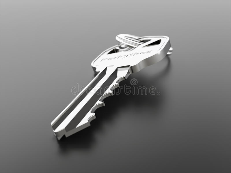 Download Silver key stock illustration. Image of enter, real, render - 30837562