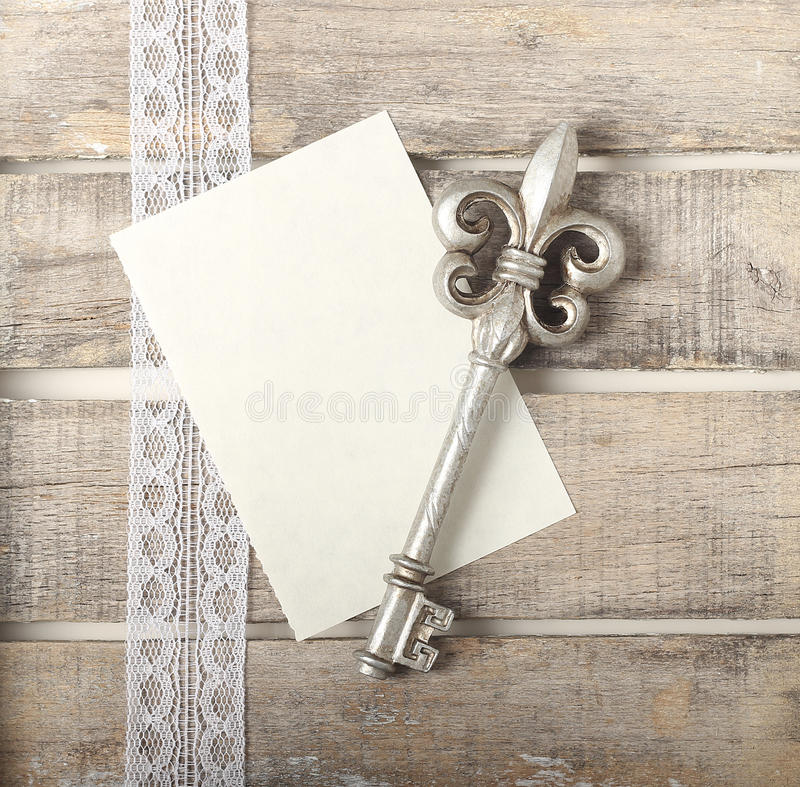 Download Silver Key Diary Greeting Card Stock Image - Image: 30886525