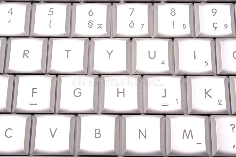 Silver keyboard royalty free stock photos