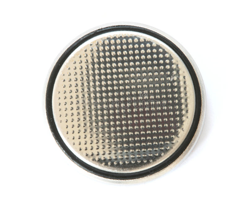 Silver knäppas cellbatteriet royaltyfri foto