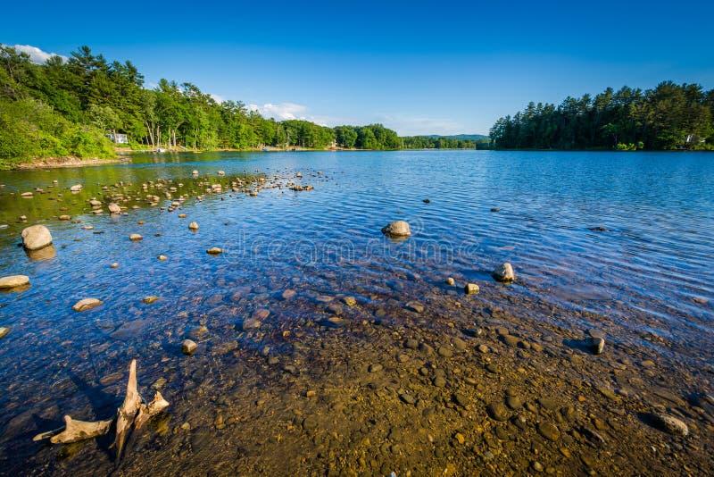 Silver Lake, dans Tilton, New Hampshire photos stock