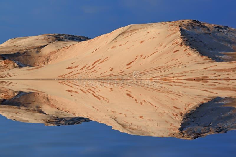 Silver Lake-Sanddüne-Reflexionen lizenzfreie stockbilder