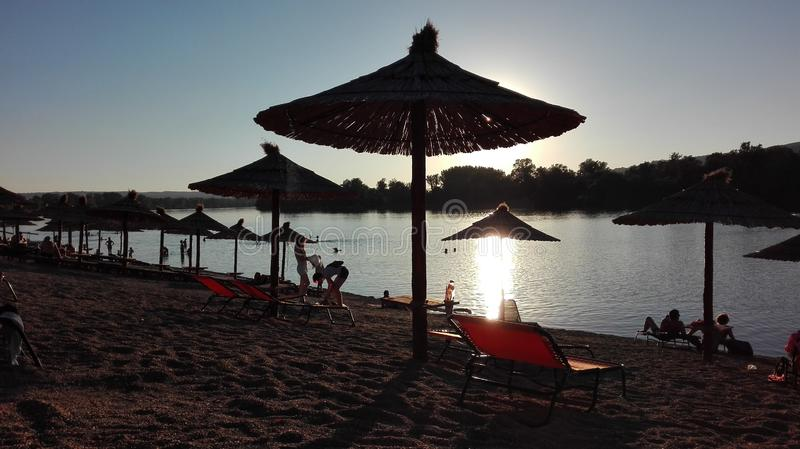 Silver lake, Serbia by Dunya_Ra royalty free stock image