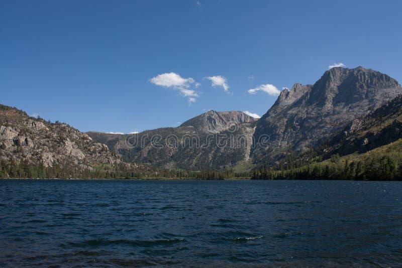 Silver Lake in sierre orientali fotografia stock libera da diritti