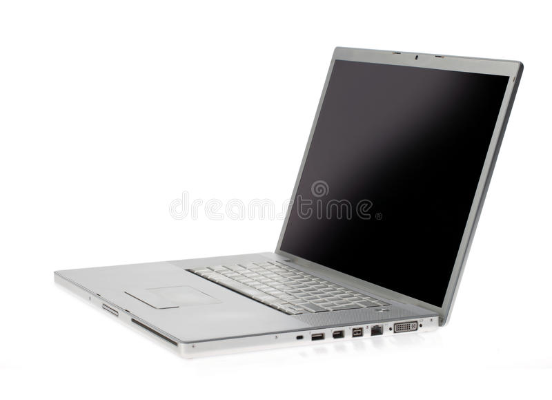 Silver lap top royalty free stock images