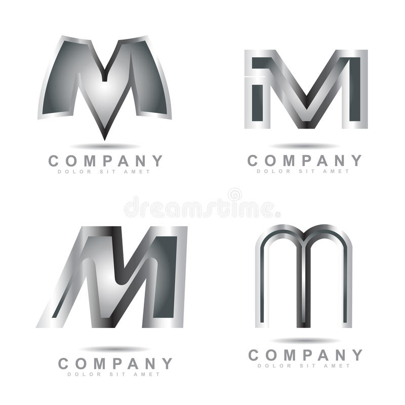 letter m logo royalty free stock photos image 22214578 silver letter m logo stock vector image of 182