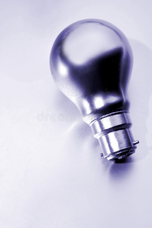 Silver Light Bulb Royalty Free Stock Photo