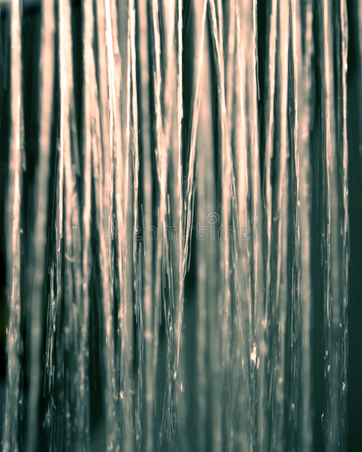Silver light shower royalty free stock image
