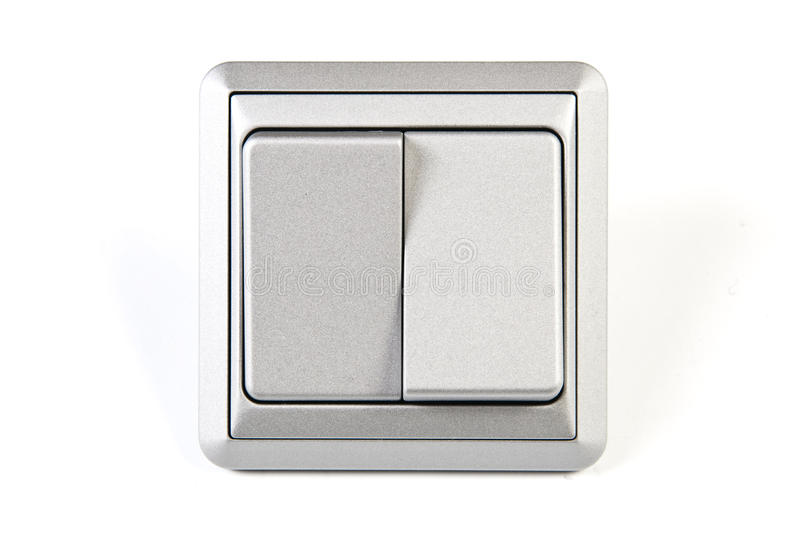 Download Silver light switch stock image. Image of electricity - 12253667