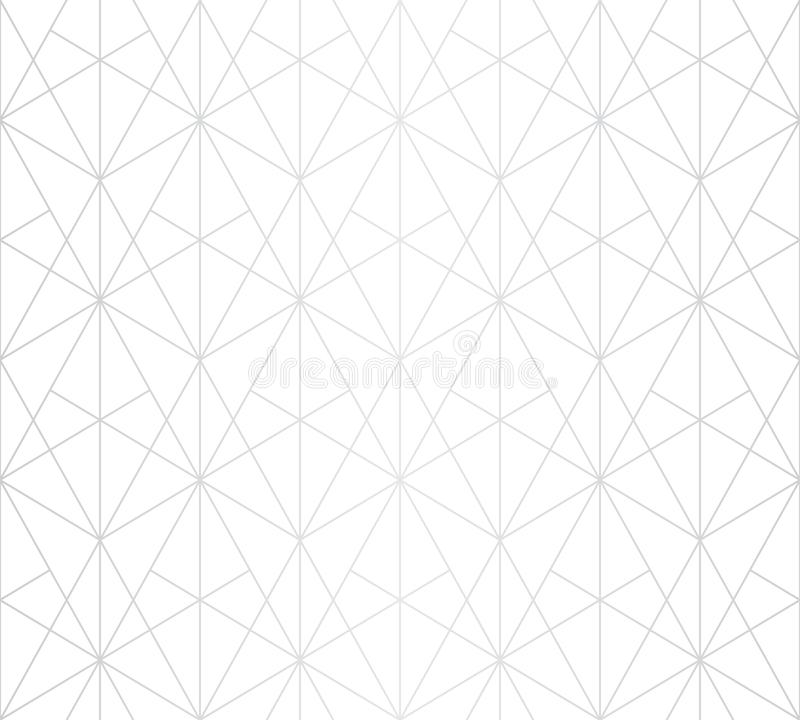 Silver lines pattern. Vector geometric linear seamless texture. Luxury design royalty free illustration