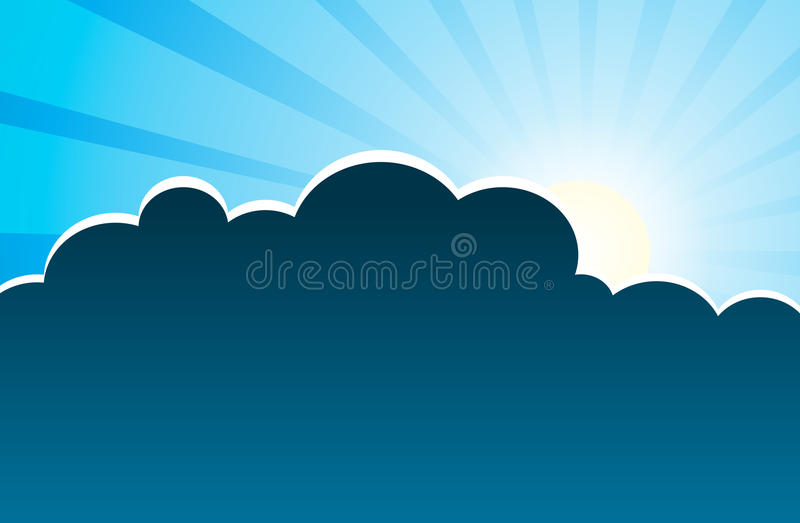 Download Silver Lining stock vector. Illustration of nature, endure - 19808675