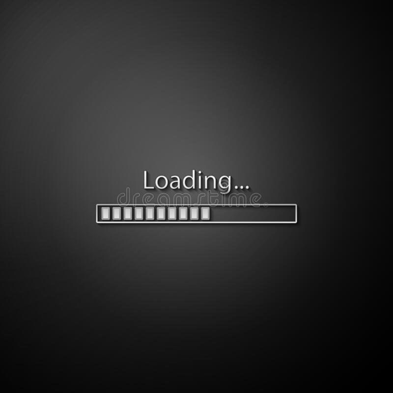 Loading Icon Isolated On Green Background. Progress Bar