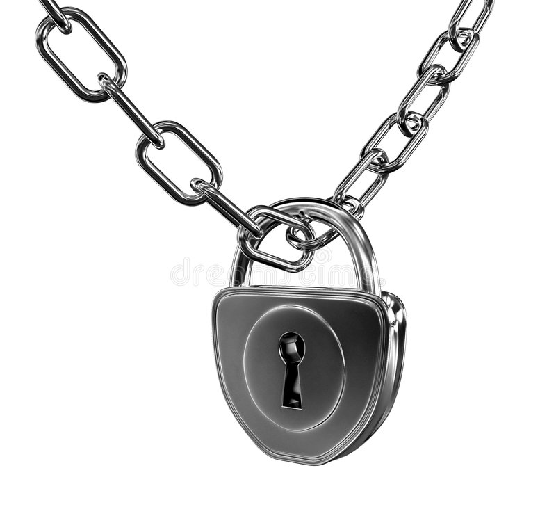 Download Silver lock with chain stock illustration. Image of entrance - 2699213
