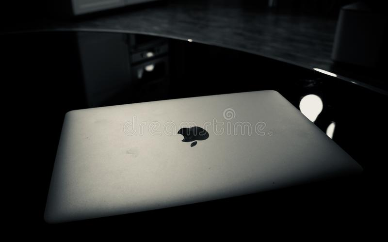 Silver Macbook royalty free stock photos
