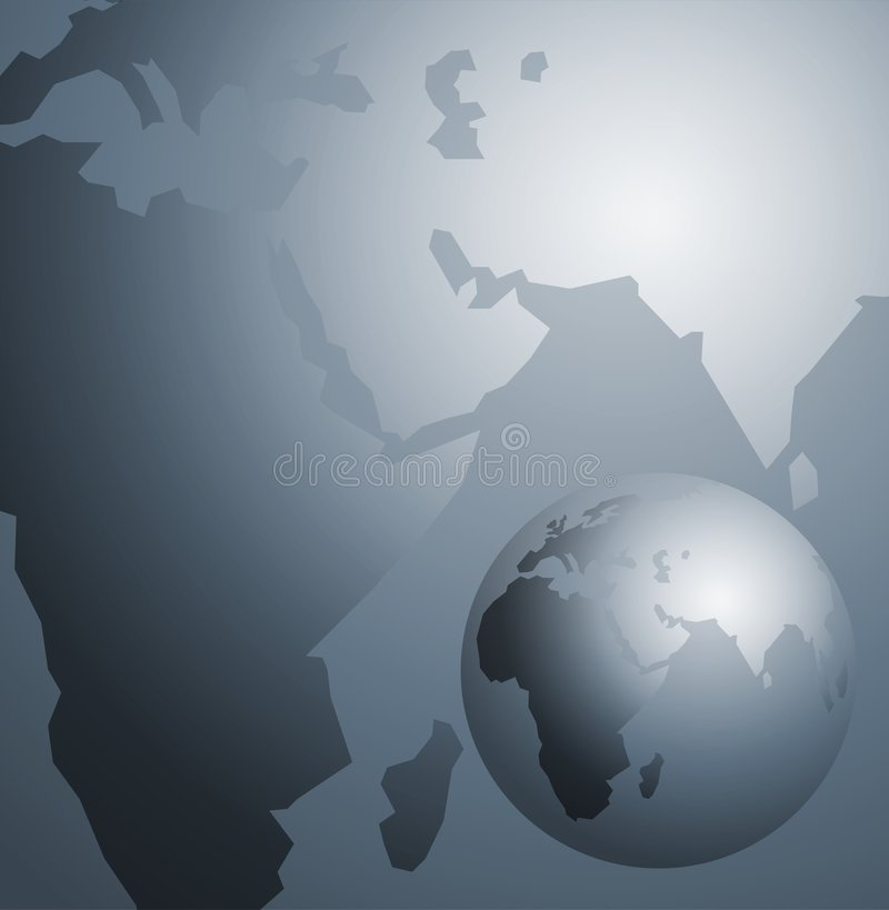 Download Silver Map stock illustration. Image of countries, global - 2020