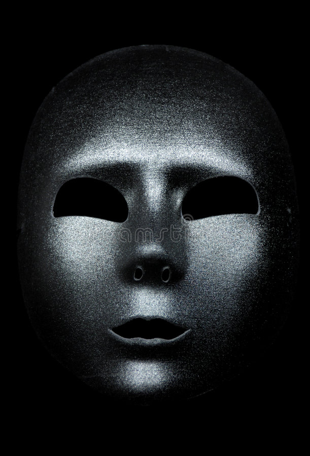 Download Silver Mask stock photo. Image of mouth, costume, abstract - 25364