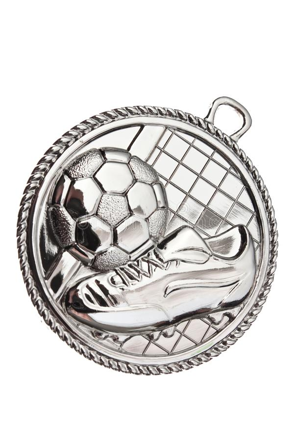 Silver Medal - football royalty free stock images