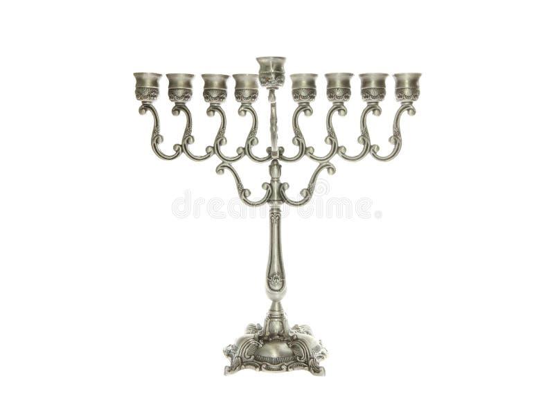 Silver Menorah royalty free stock image