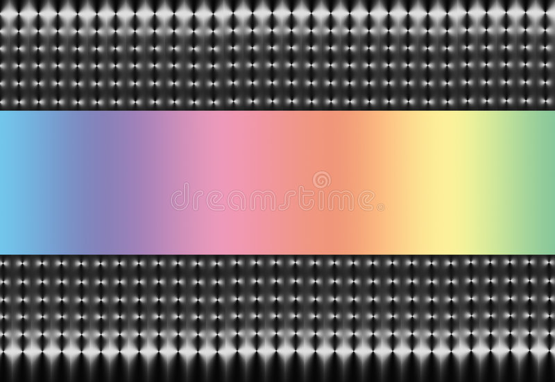 Silver Mesh with Pastel Rainbow Spectrum stock illustration