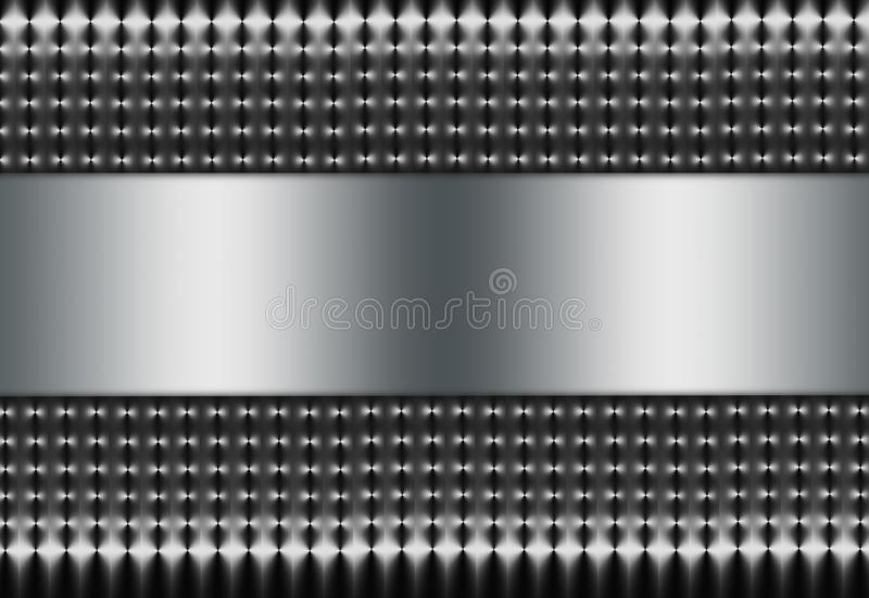 Silver Mesh with Silver Insert royalty free stock photos