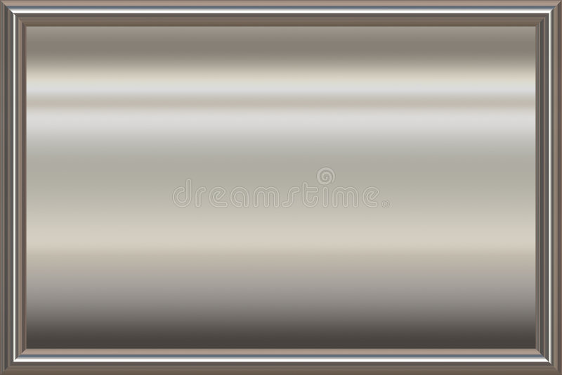 silver Metal award frame stock illustration