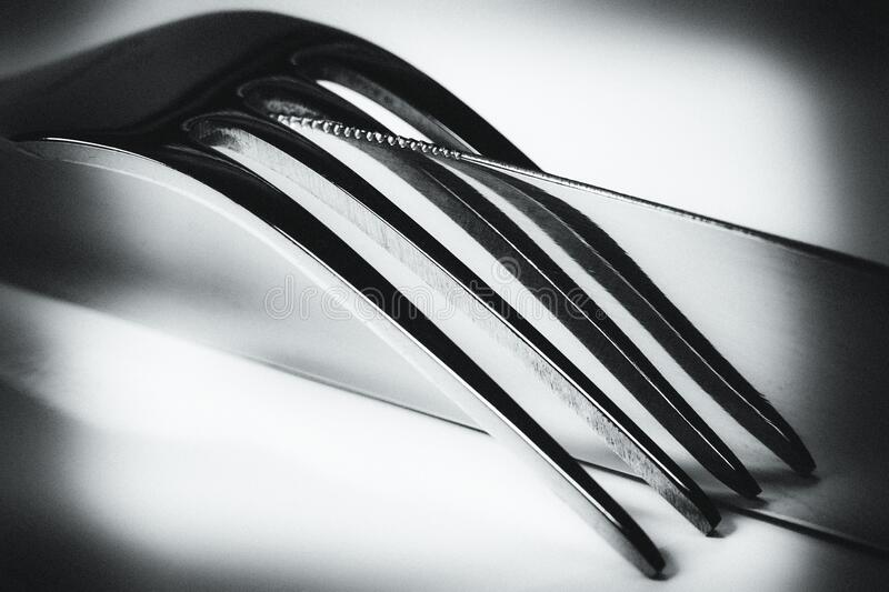 Silver Metal Fork On Top Of A Silver Butter Knife Free Public Domain Cc0 Image
