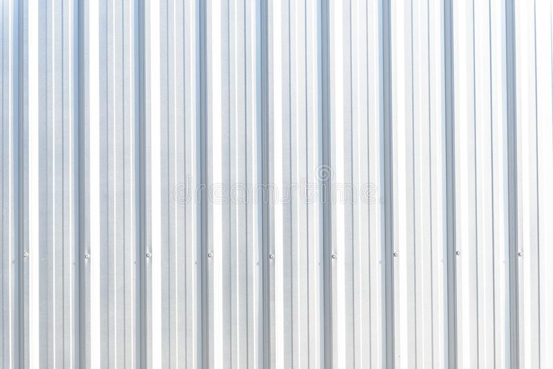 Corrugated Metal Sheet Silver Gray Background Pattern