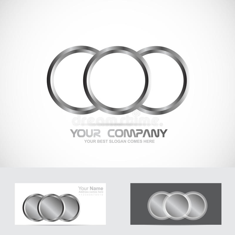 vector silver identity company icon rings download element of illustration circle metal logo template stock circles