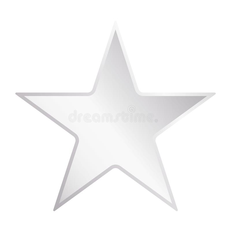 Silver metal star. Star logo with metal gradient vector eps10. Silver star icon. royalty free illustration