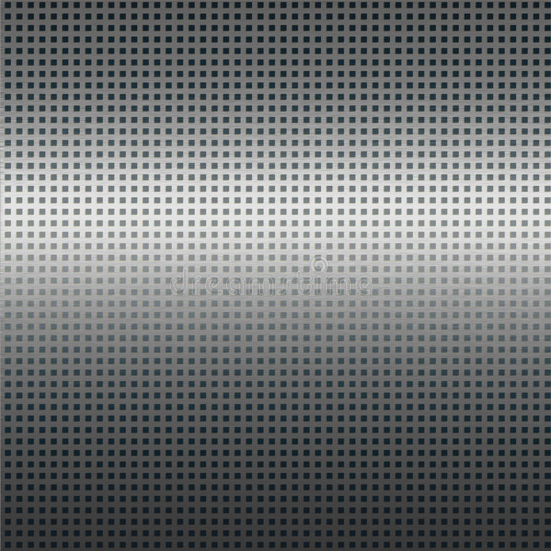 Silver metal texture background with black grid pattern. Silver metal texture background with square black grid pattern royalty free illustration