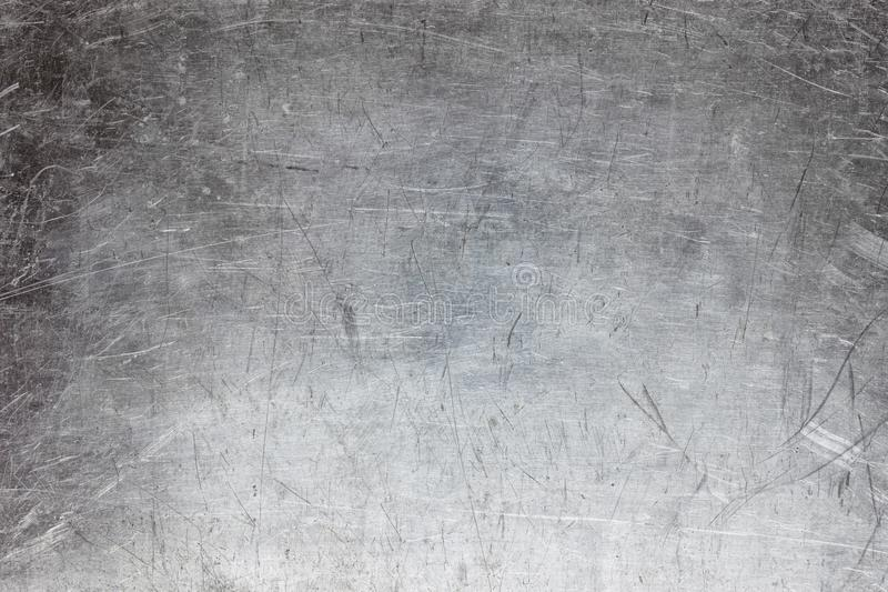 Silver metal texture, grunge background of steel or aluminum royalty free stock image