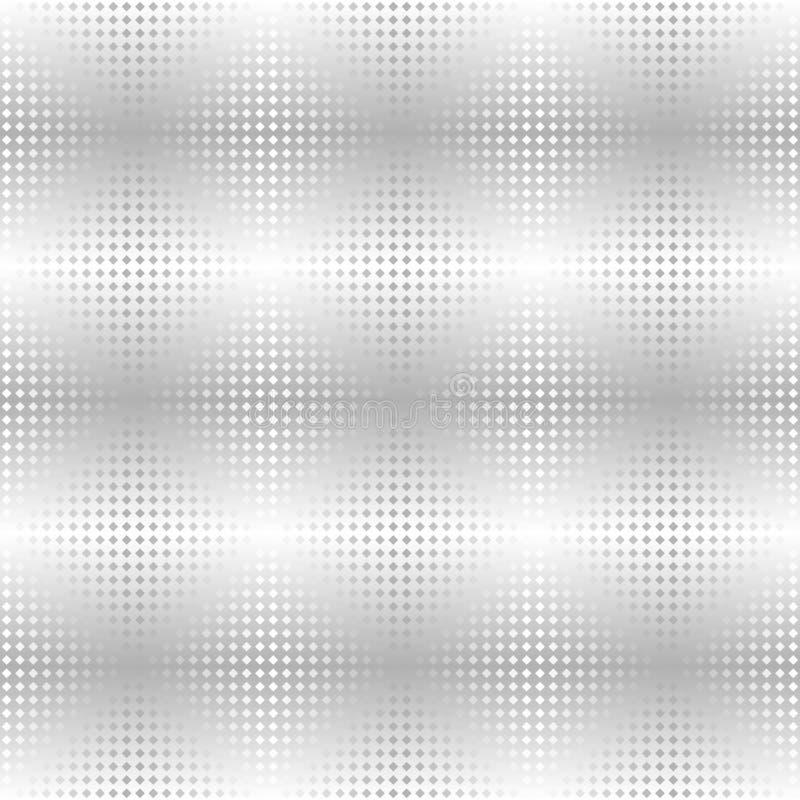 Silver metallic diamond pattern. Vector seamless background vector illustration