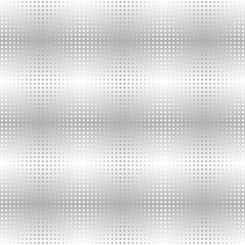Silver metallic dot pattern. Vector seamless background royalty free illustration