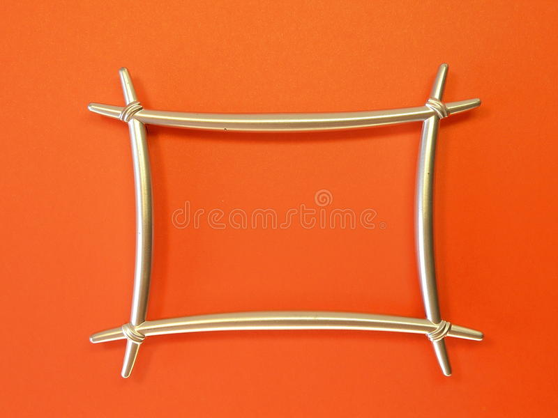 Silver metallic frame royalty free stock image