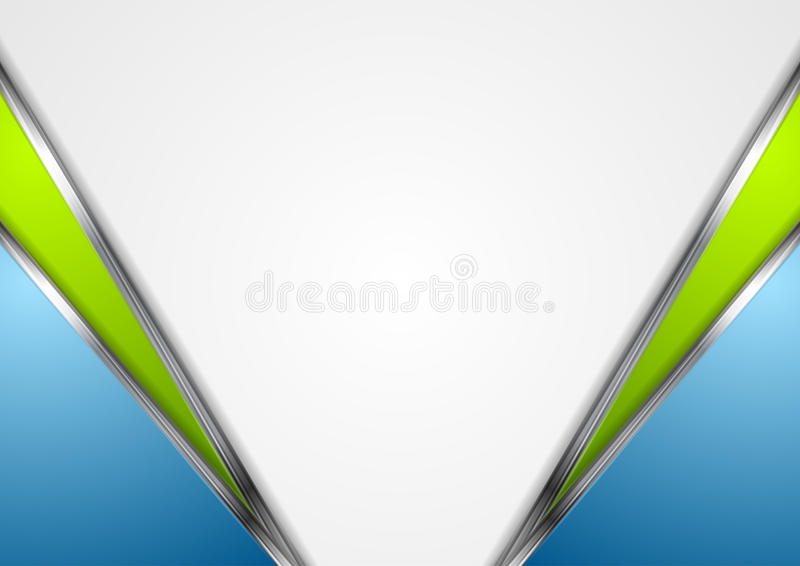 Silver metallic lines, blue green background royalty free illustration