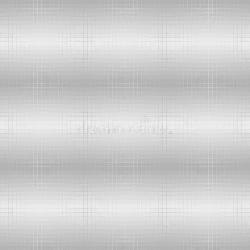 Silver metallic square pattern. Vector seamless background stock illustration