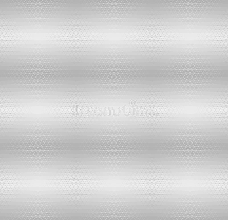 Silver metallic triangle pattern. Vector seamless background vector illustration