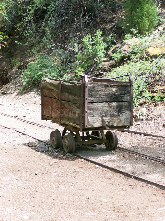 Silver Mine Cart stock image