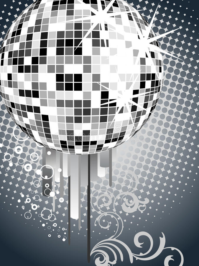 Download Silver mirror ball stock vector. Image of painting, mirrored - 16049888
