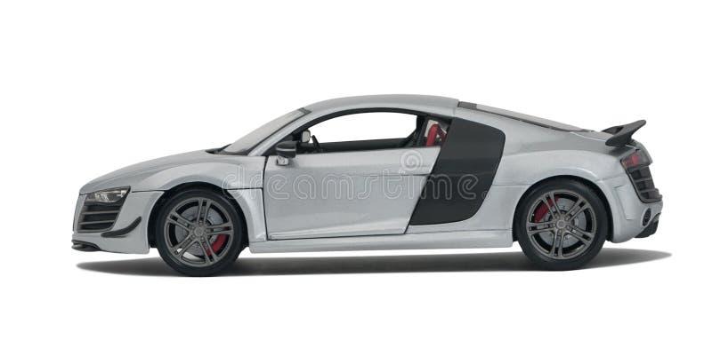 Silver model sport car royalty free stock image
