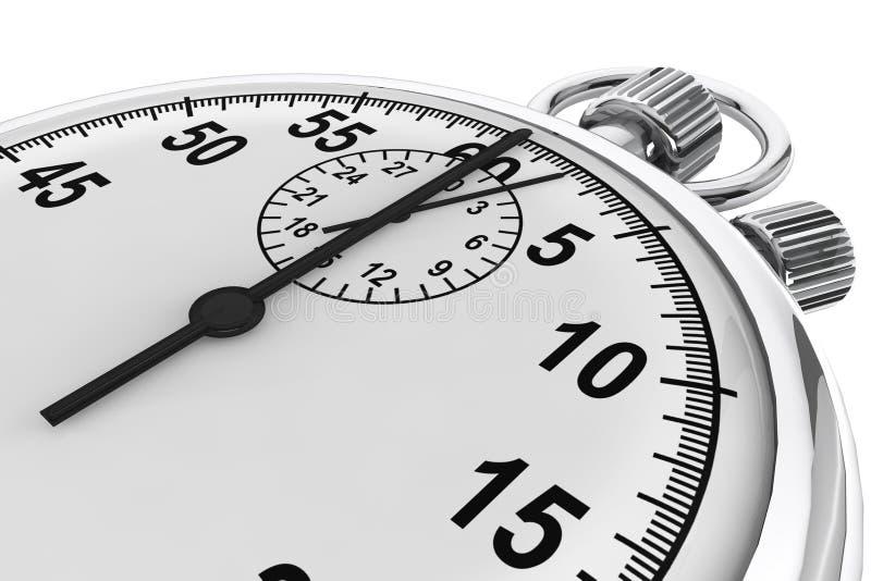 Silver modern Stopwatch vector illustration