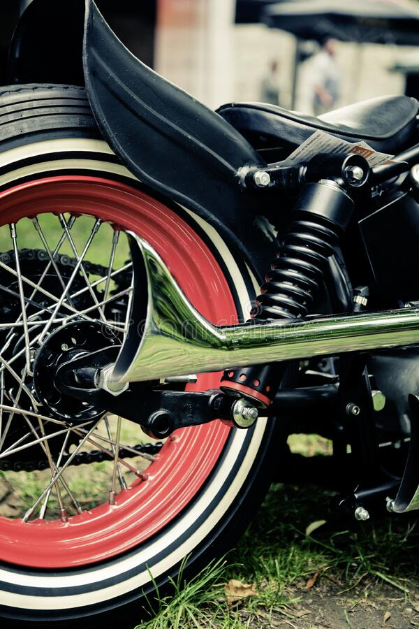 Silver Motorcycle Exhaust Pipe Near Black Fender During Daytime Free Public Domain Cc0 Image