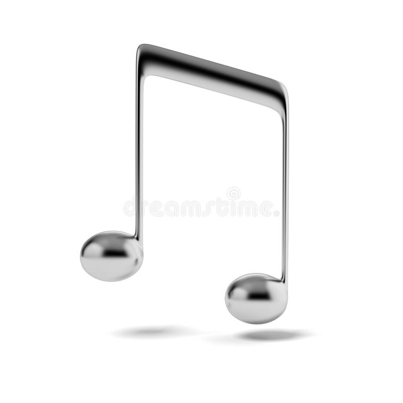 Silver music note stock illustration